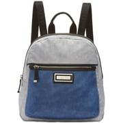 Checkered Nylon Zip-Up Backpack