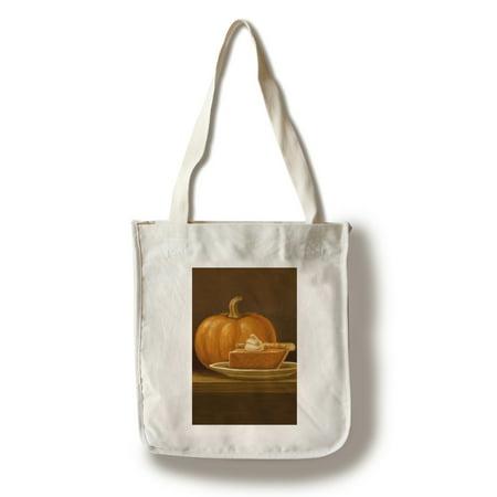 Minion Pumpkin Painting (Pumpkin Pie - Thanksgiving Oil Painting - Lantern Press Artwork (100% Cotton Tote Bag -)