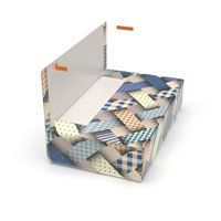 All-in-One, Just Peel & Stick Gift Box - Woven (Small-Large)