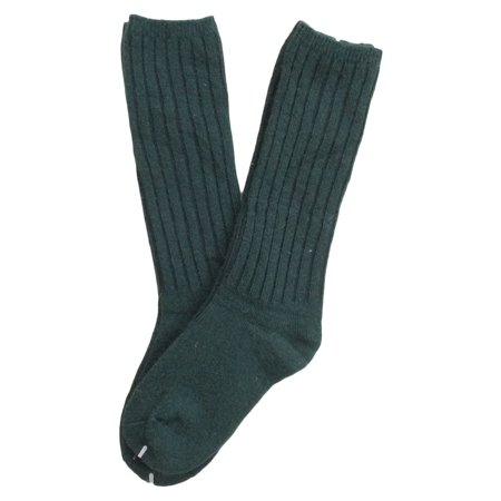 Lian LifeStyle Children 6 Pairs Knee High Wool Socks Size 2-4Y(Green)