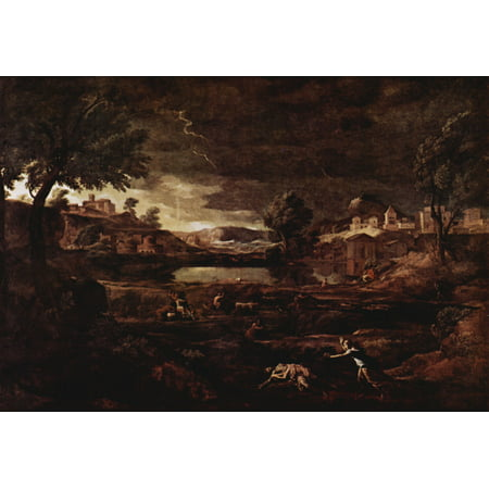 Framed Art for Your Wall Poussin, Nicolas - Landscape with Pyramus and Thisbe 10 x 13