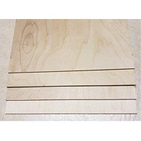 "5 mm 1/4"" X 12"" X 24"" Premium Baltic Birch Plywood – B/BB Grade - 6 Flat Sheets by WOODNSHOP"
