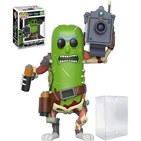 Funko Pop! Animation: Rick and Morty - Pickle Rick with Laser Cannon #332 Vinyl Figure (Bundled with Pop Box Protector (332 Laser)