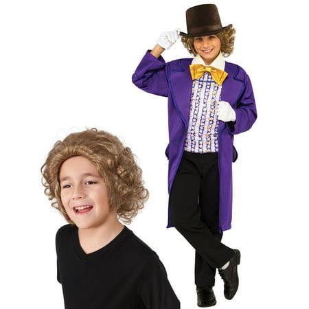Willy Wonka Classic Child Costume Bundle Set - Large