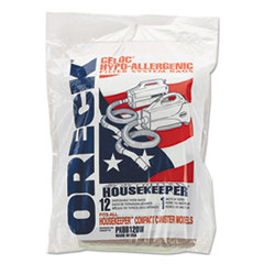 ORECK CORP. PKBB12DW Disposable Vacuum Bags, 12/PK