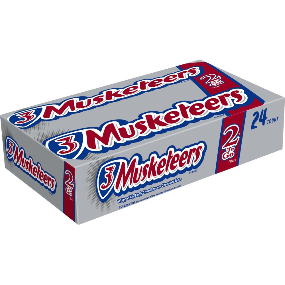 Image of 3 Musketeers 2 To Go Candy Bar, 3.28 Oz