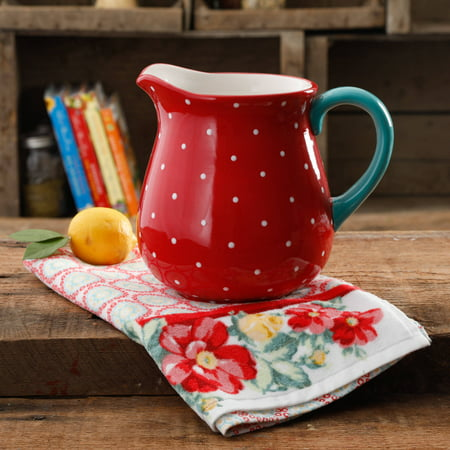 - The Pioneer Woman Retro Dot 2.6-Liter Ceramic Pitcher