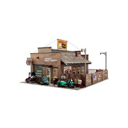 - Woodland Scenics HO Scale Built-&-Ready Structures Deuce's Bike Shop Multi-Colored