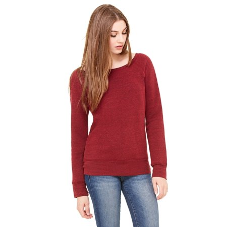 Bella + Canvas Ladies' Sponge Fleece Wide Neck Sweatshirt - image 2 de 2