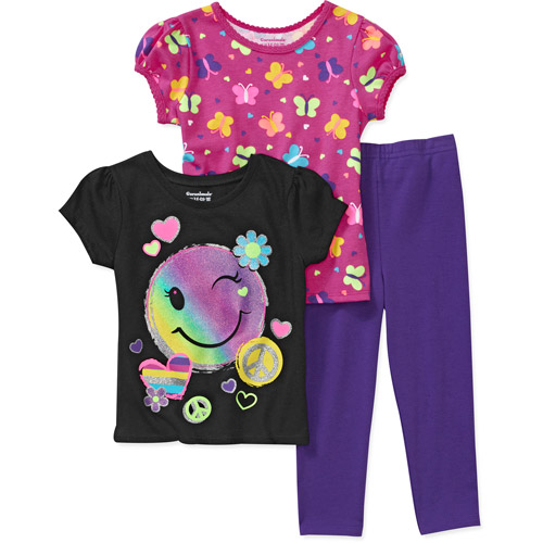 Garanimals Baby Girls' 3-Piece Tee's and Legging Set