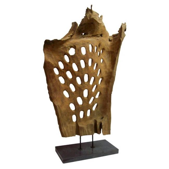 Moes Home Collection EI-1033-24 Wood Abstract Art, Natural