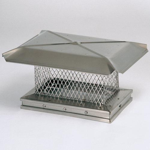"Gelco 13315 10"" x 17"" Stainless Steel Chimney Cap with 5/8"" Mesh"
