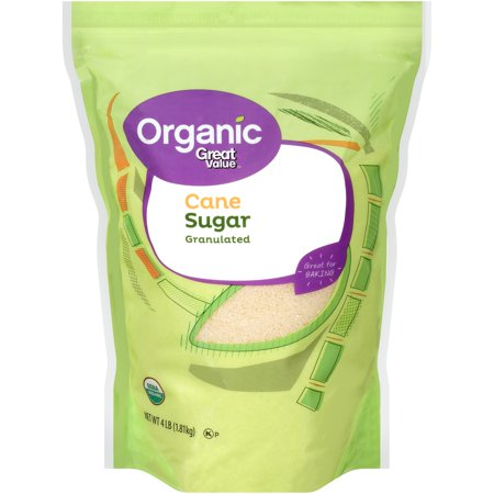 Great Value Organic Granulated Cane Sugar, 4 lbs