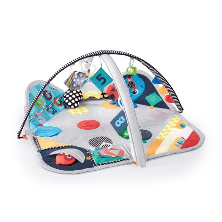 Baby Einstein Sensory Play Space Newborn-to-Toddler Discovery Gym and Play Mat, Ages Newborn +