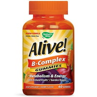 Nature's Way Alive! B-Complex Gummy Vitamins, Multivitamin Supplements, 60 Count