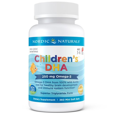 Nordic Naturals Children's DHA Mini Softgels, 250 Mg, 360 (Best Dha Supplement For Pregnancy)