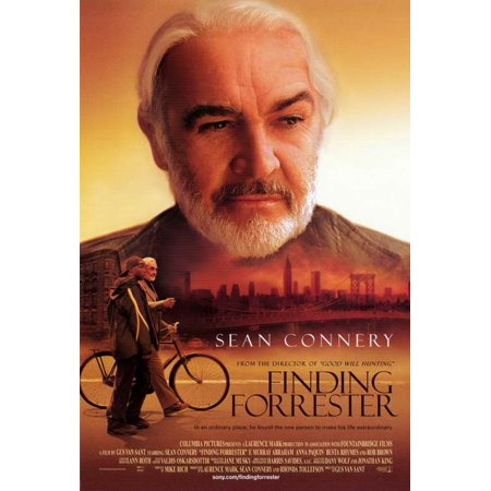 Finding Forrester - movie POSTER (Style A) (27  x 40 ) (2000) Finding Forrester Style A (2000) Single Sided, Decorative Wall Poster Print. The paper size is approximately 27 x 40 Inches - 69cm x 102cm . The condition of this item is brand new - mint condition. No pinholes or tape and has never been hung or displayed. Paper size may not be exact so we recommend waiting until you receive the poster to purchase a frame. This quality reproduction makes a great gift and is perfect for framing.CAST: Anna Paquin, Sean Connery, Robert Brown, F. Murray Abraham, Busta Rhymes, April Grace, Michael Nouri, Zane R. (Lil' Zane) Copeland Jr.; DIRECTED BY: Gus Van Sant; WRITTEN BY: Mike Rich; CINEMATOGRAPHY BY: Harris Savides; MUSIC BY: Hal Willner.