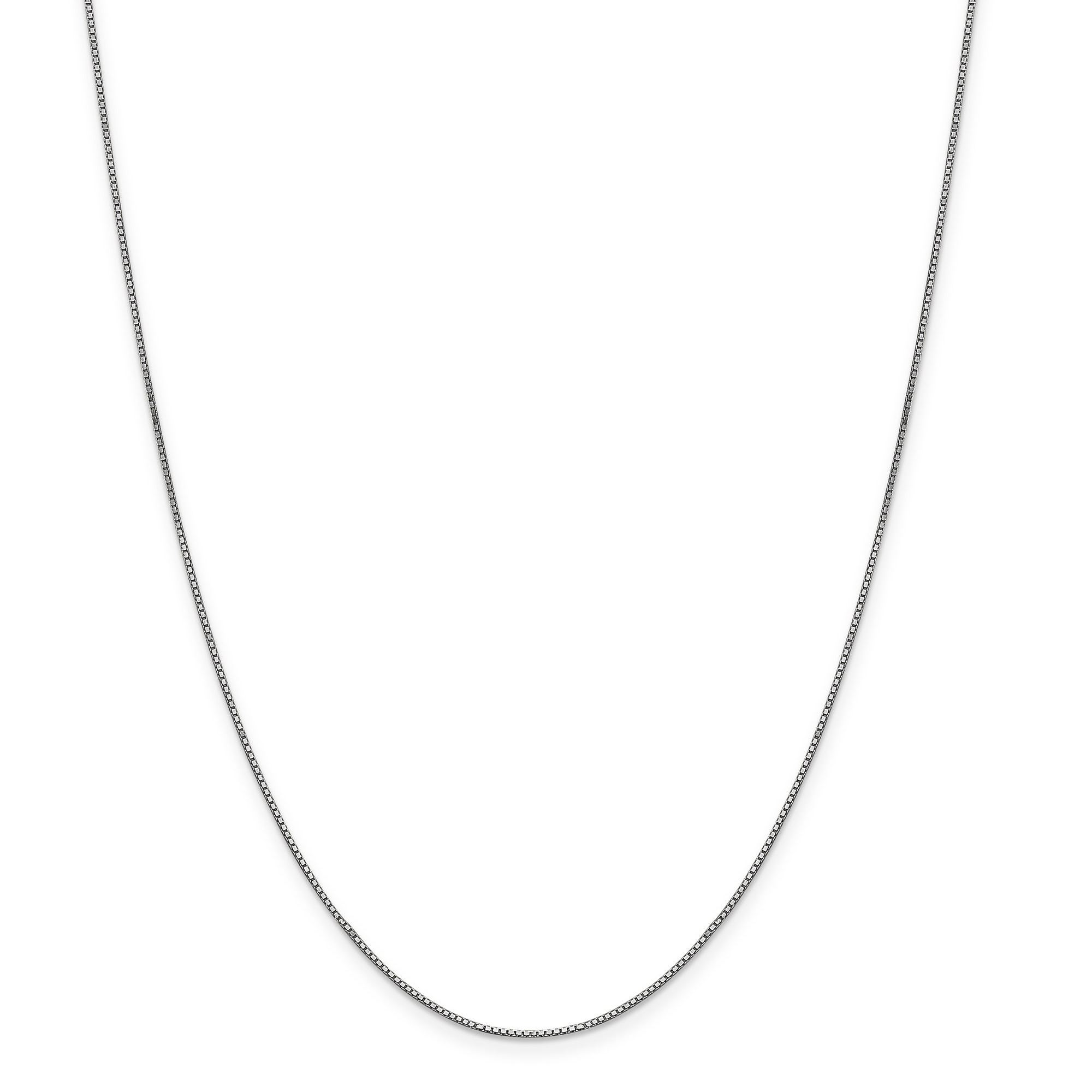 10k White Gold .90mm Link Box Chain Necklace 24 Inch Pendant Charm Fine Jewelry Gifts For Women For Her - image 5 of 5