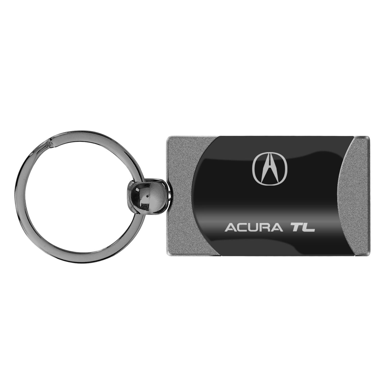 Acura TL Two Tone Rectangular Gun-Metal Key Chain