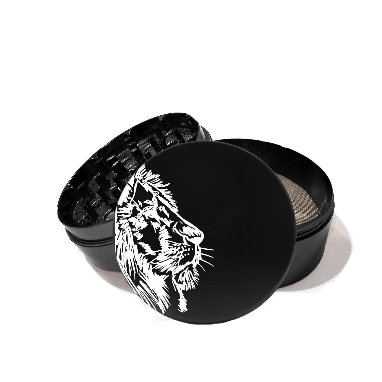 African Lion Face - Laser Etched Grinder