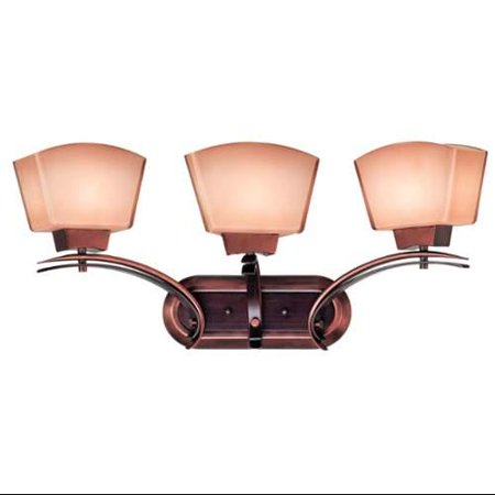 Kenroy Home 2743 Oslo 3-Light Vanity, Burnished Copper by