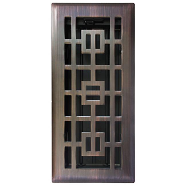 RG3284 4 x 12 in. Bronze Floor Register