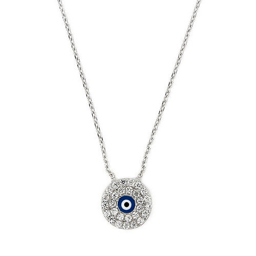 Plutus Partners Sterling Silver Cubic Zirconia Necklace