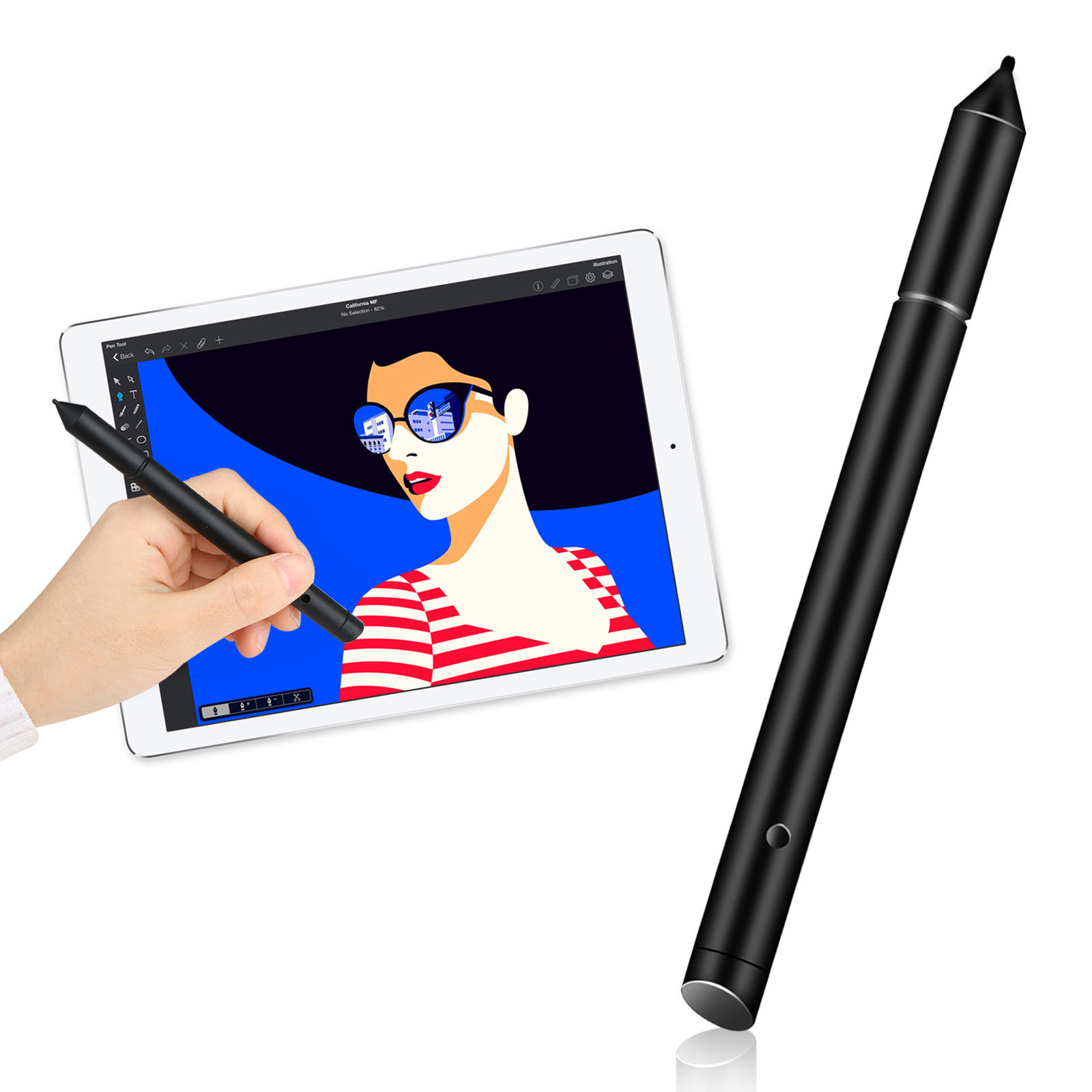EEEkit Universal 2 in 1 Touch Screen Pen Stylus for iPhone iPad Samsung Tablet PC Phone