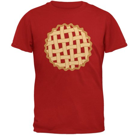 Halloween Lattice Pie Costume Strawberry Cherry Mens Soft T Shirt - Strawberry Halloween Costume