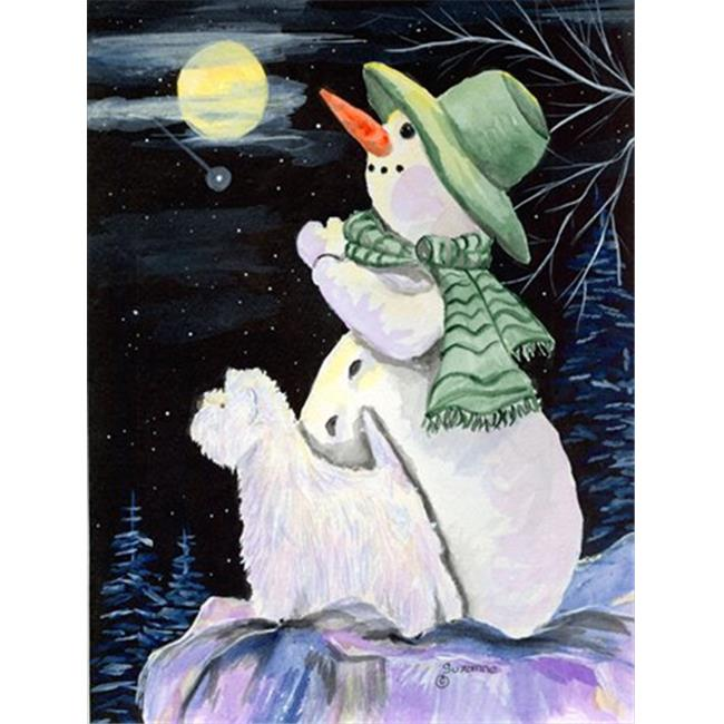 11 x 15 in. Snowman with Westie Garden Size Flag - image 1 of 1