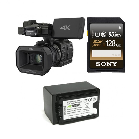 Panasonic HC-X1000 4K Ultra HD 60p/50p Professional Camcorder 128GB Bundle