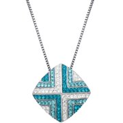 Sterling Silver White And Blue