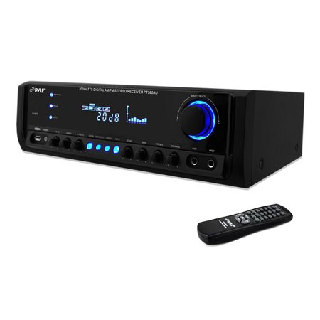 Pyle 200 Watt Home Stereo Receiver System with USB Flash Reader