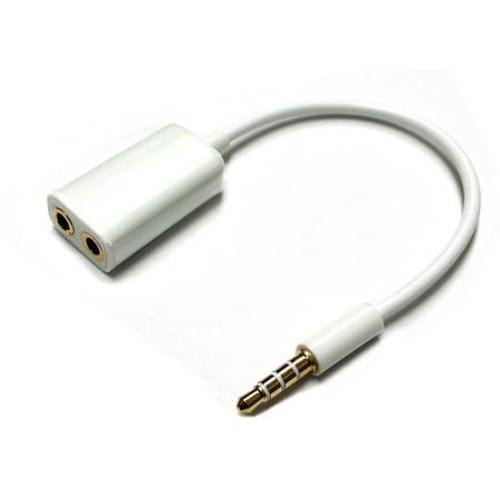 Dual 3.5mm Female Input to 3.5mm Male Input Audio Splitter Adapter For HTC EVO 4G -