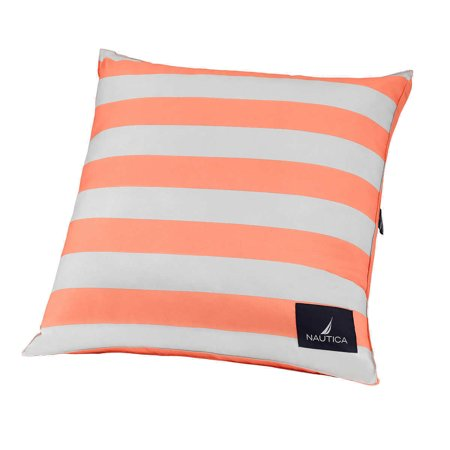 Nautica Decorative Throw Euro Pillows Classic Peach incl's storage (Nautica European Decorator Pillow)