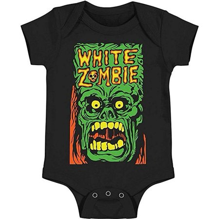 White Zombie Monster Yell Infant Baby Romper T-Shirt - Baby Zombie Clothes