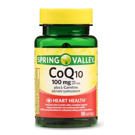 Spring Valley CoQ-10 plus L-Carnitine Softgels, 100 mg, 50