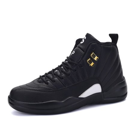 Mens High Top Sneakers Shoes Hidden Heel Trainer Boots Athletic Basketball Shoes
