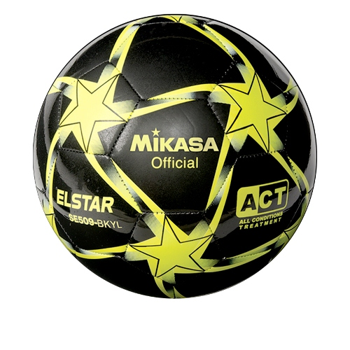 Soccer Ball by Mikasa Sports, Elstar Size 5 - Black/Yellow/Lime