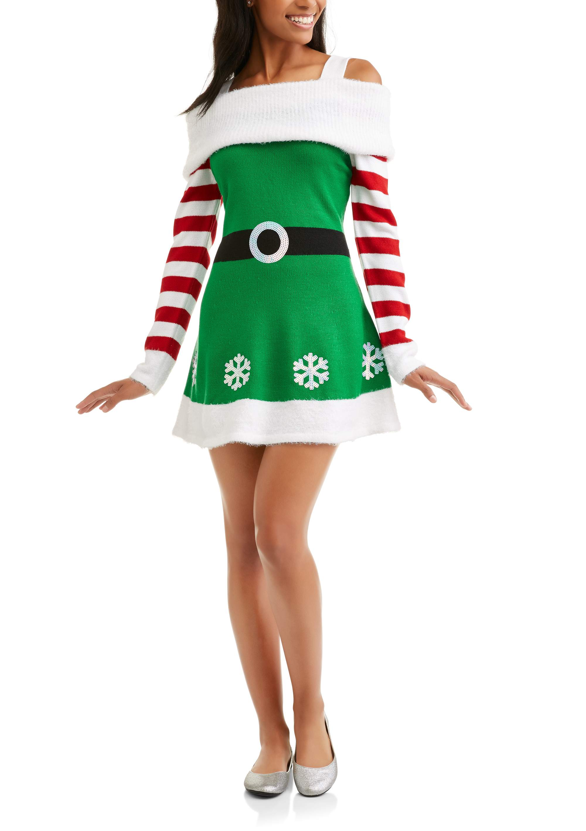 bee53c0c9b3 Holiday Time - Women s Ugly Christmas Sweater Dress - Walmart.com