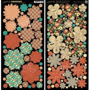 Graphic 45 Raining Cats and Dogs Cardstock Die-Cuts, Flowers Multi-Colored