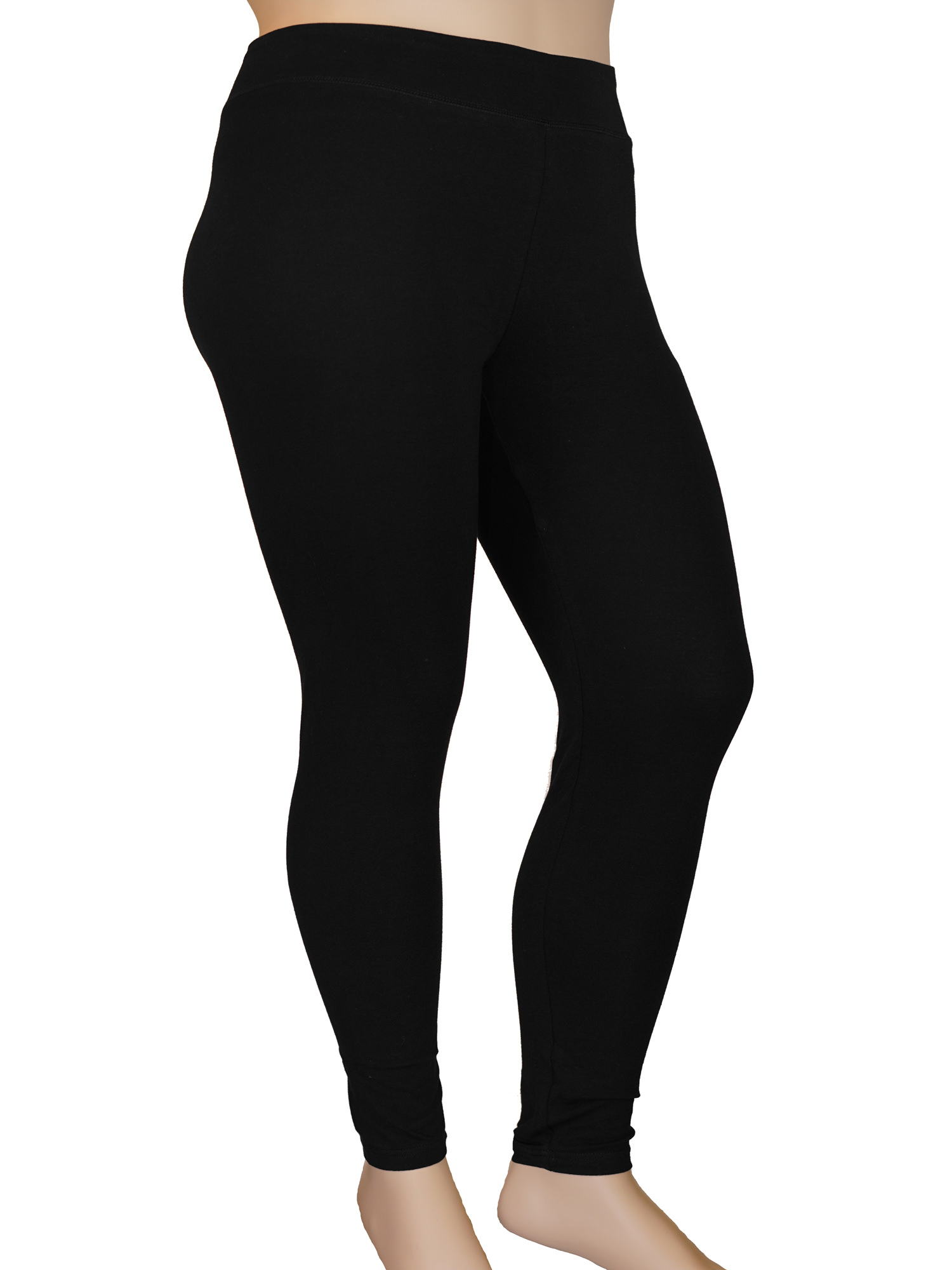Stylzoo Plus Size Women's Ankle High Comfort Stretch Leggings Yoga Stretch Pants Black