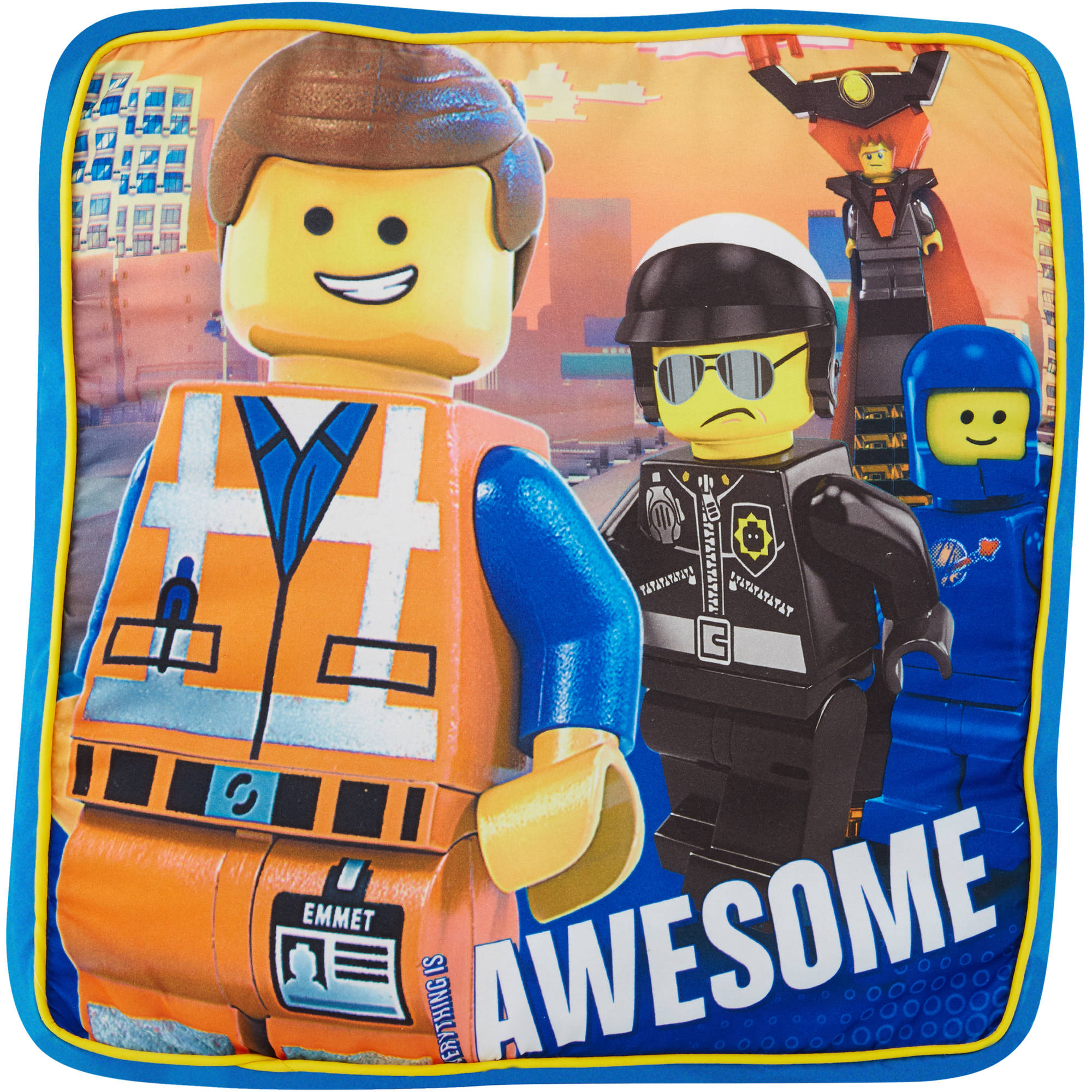 LEGO The Movie 16x16 Decorative Pillow