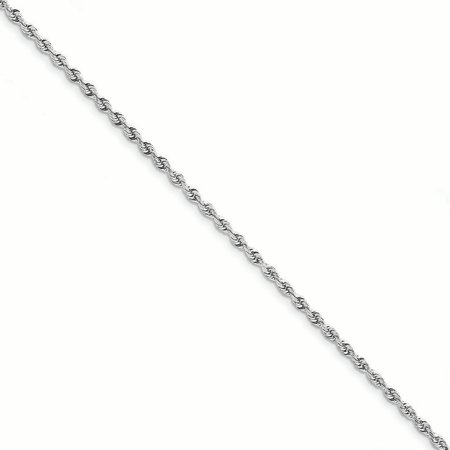 10K White Gold 3.0 MM Diamond-cut Quadruple Rope Bracelet, 8