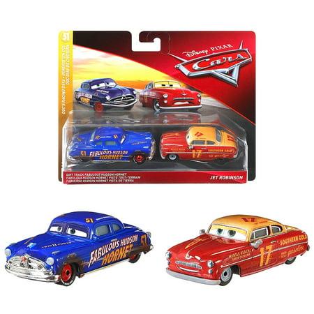 Dirt Track Hudson Hornet & Jet Robinson Doc's Racing Days Disney Cars Diecast 1:55