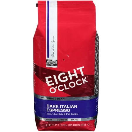 Eight O'Clock Dark Italian Espresso Roast Whole Bean Coffee, 32 oz Bag ()