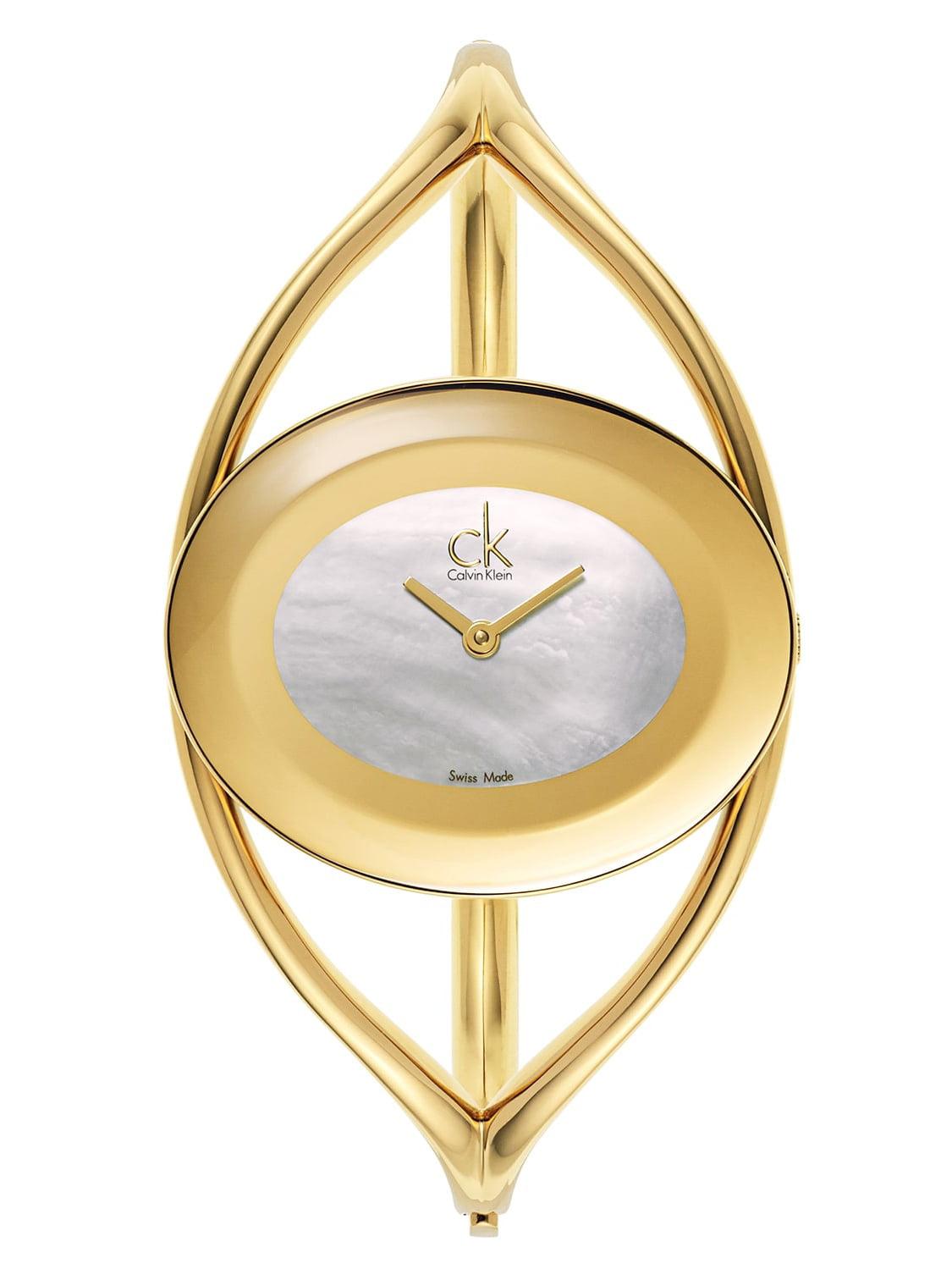 Yellow Gold-plated Stainless Steel Swiss Quartz Women's Watch
