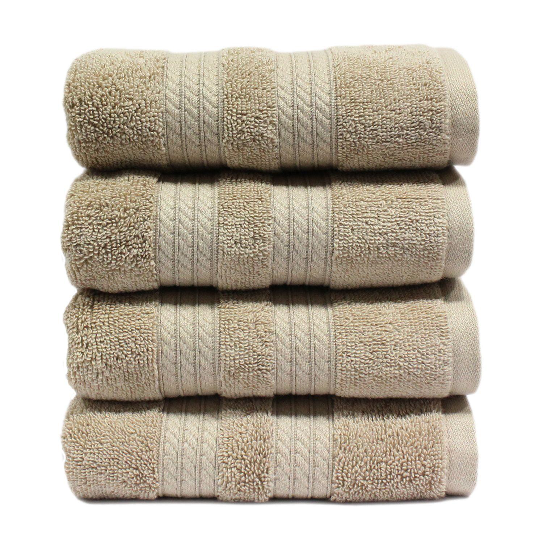 "100% Cotton Luxury Hand Towel, 16"" x 30"" - Linen"