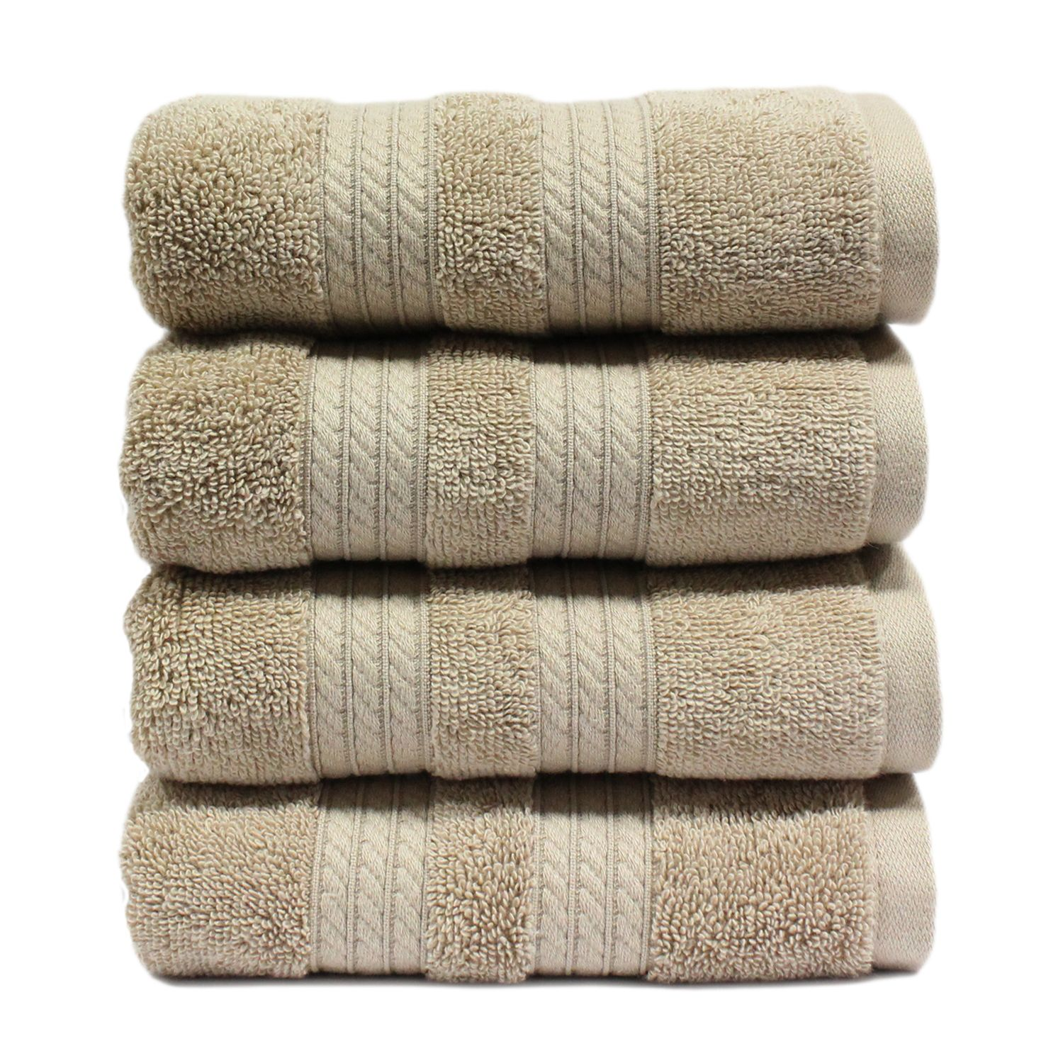 "100% Cotton Luxury Hand Towel, 16"" x 30"" - Linen"