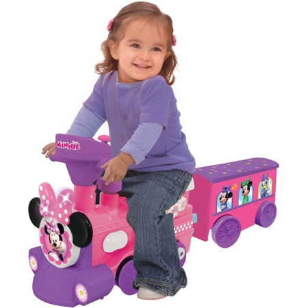 Disney Minnie Mouse 2-in-1 Battery-Powered Train with Trailer by